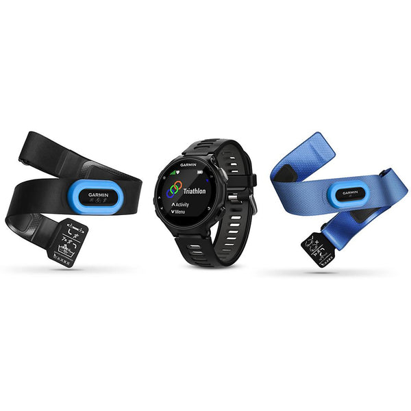 Garmin Forerunner 735XT Tri-Bundle Black and Gray Watch (010-01614-03)
