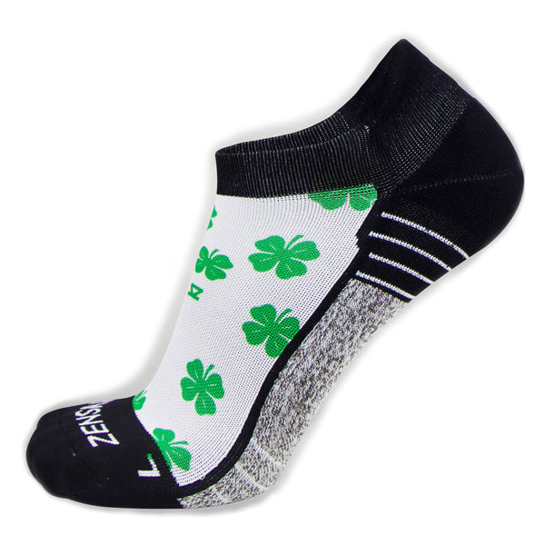 ZENSAH St. Patricks Day No Show Shamrock/White Socks (8650-101)