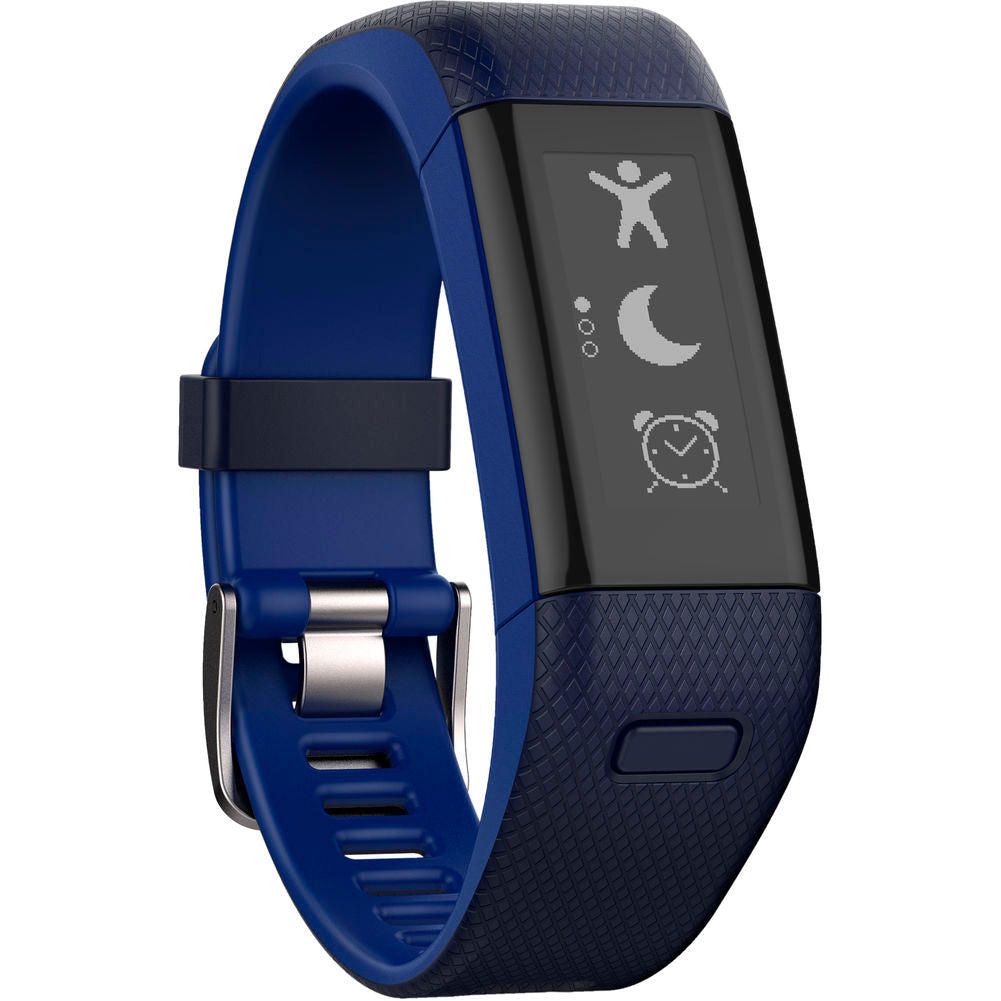 Garmin vivosmart HR+ (Translated packaging) Regular Fit Midnight Blue and Force Blue Activity Tracker (010-01955-32)