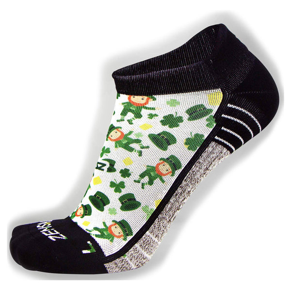 ZENSAH St. Patricks Day No Show Lucky Leprechaun/White Socks (8461-434)