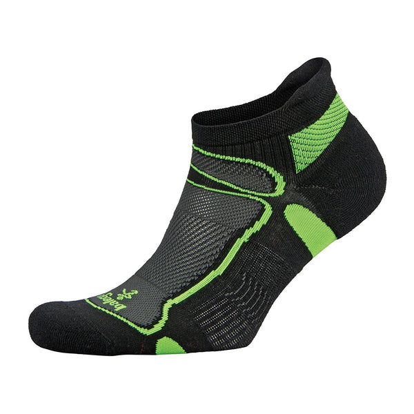 Balega Ultra Light No Show Unisex Black & Lime Running Socks (8924-3733)