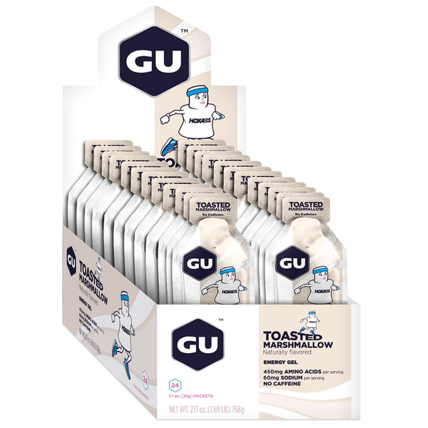 GU ENERGY Original Sports Nutrition Toasted Marshmallow 24-Pack Energy Gel (124367)