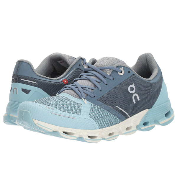 ON FOOTWEAR Womens Cloudflyer Aqua/White Running Shoes (11.4508)