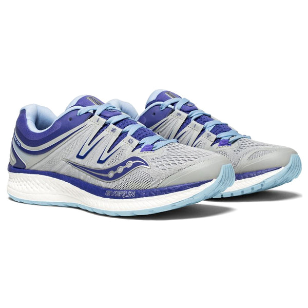 SAUCONY Women's Hurricane ISO 4 Grey Blue Purple Wide Running Shoe (S10412-1-042)