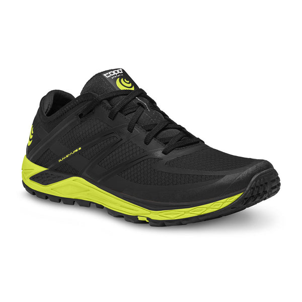 TOPO ATHLETIC Mens Runventure 2 Black/Green Running Shoe (M022-BLKGRE)