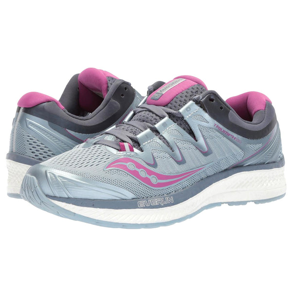 SAUCONY Women's Hurricane ISO 4 Fog Grey Purple Running Shoe (S10411-1-020)