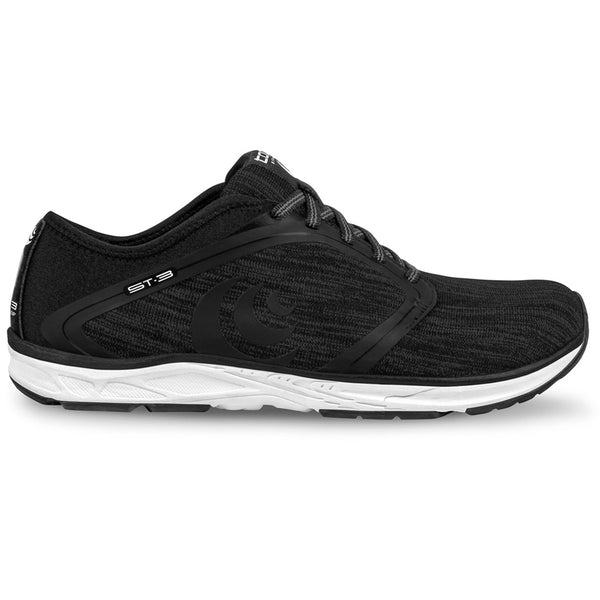TOPO ATHLETIC Mens ST-3 Black/Grey Running Shoe (M026-BLKGRY)