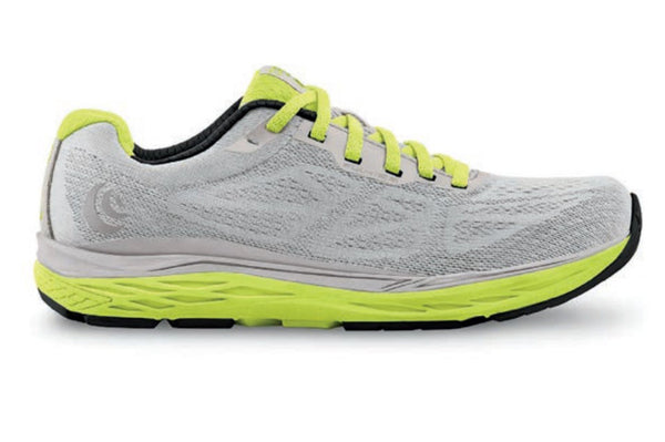 TOPO ATHLETIC Womens Fli-Lyte 3 Silver/Lime Running Shoes (W030-SLVLIM)