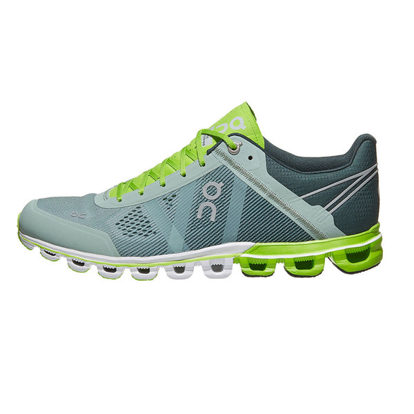 ON FOOTWEAR Mens Cloudflow Moss/Lime Running Shoe (15.99991)