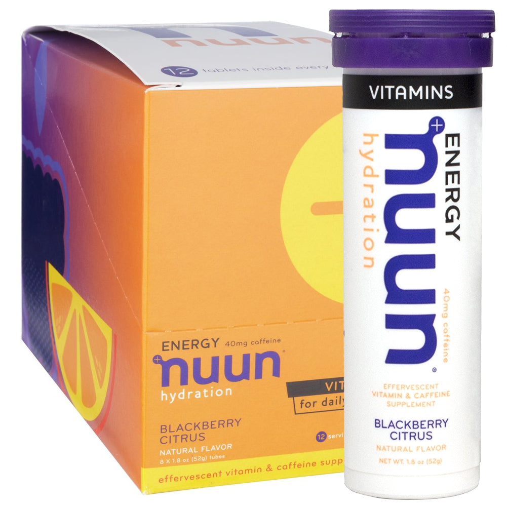 NUUN Blackberry Citrus Energy Box of 8 Tubes Vitamins (1181608)