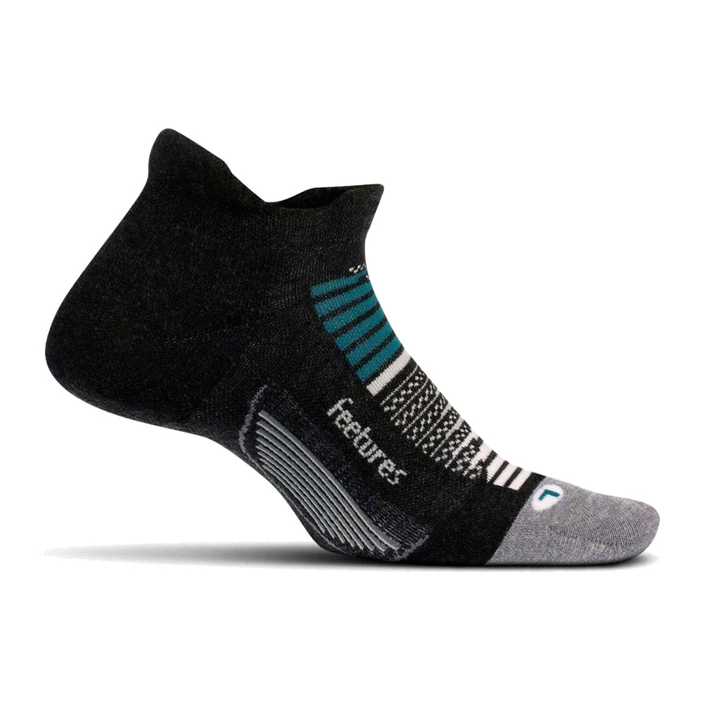 FEETURES Elite Max Cushion No Show Tab Asteroid Gray Socks (EC50241)