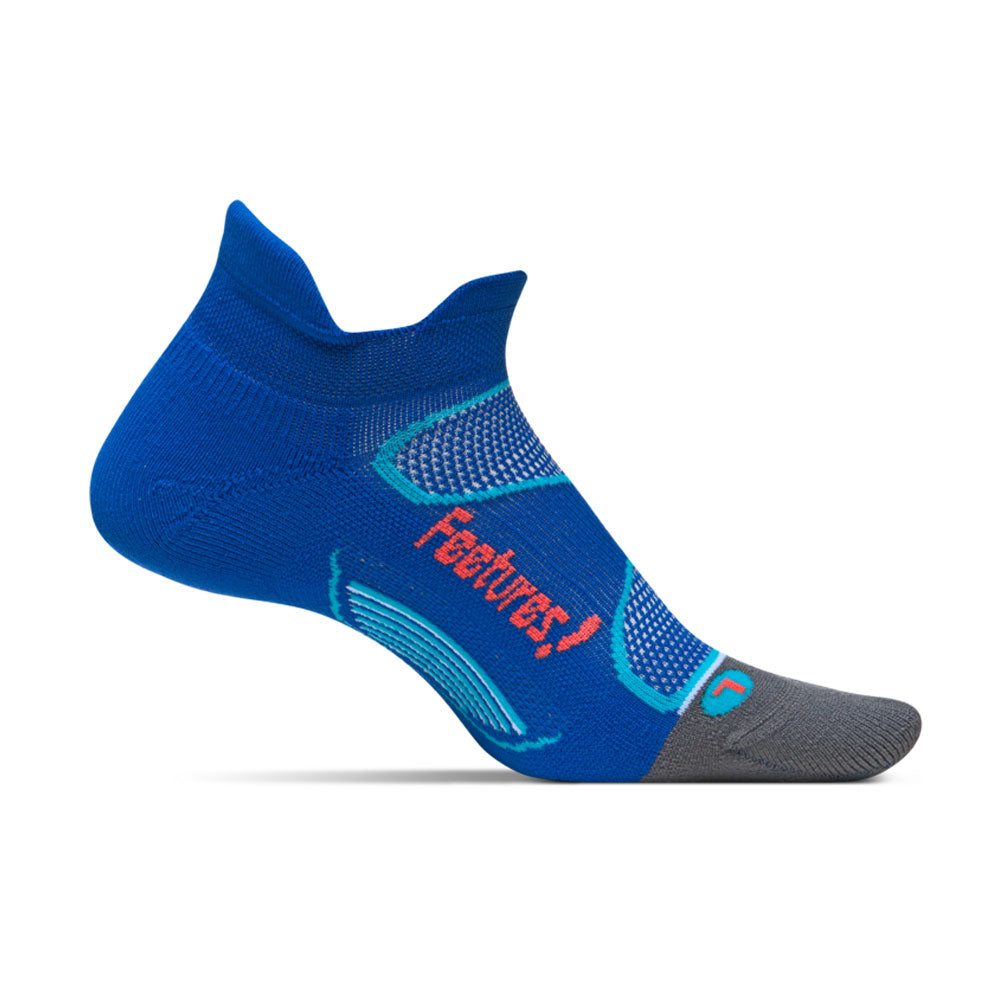 FEETURES Elite Light Cushion No Show Tab Cobalt/Lava Socks (E50082)