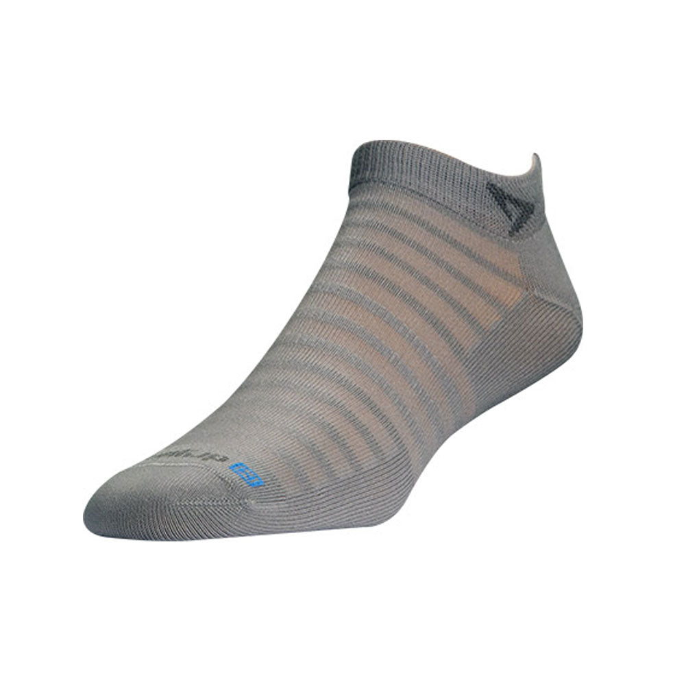 DRYMAX Hyper Thin Unisex Mini Crew Light Gray Running Socks (DMX-RUN-12356)