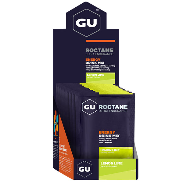 GU ENERGY Roctane Ultra Endurance Lemon Lime 10-Pack Energy Drink Mix (123128)