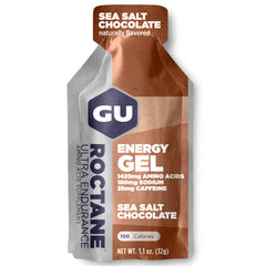 GU ENERGY Roctane Ultra Endurance Sea Salt Chocolate 24-Pack Energy Gel (123904)