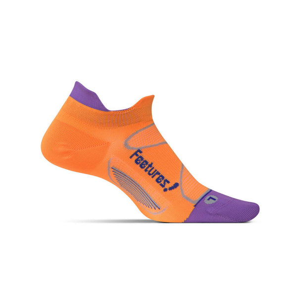 FEETURES Elite Ultra Light Womens Firecracker/Iris Running Socks (E55077)