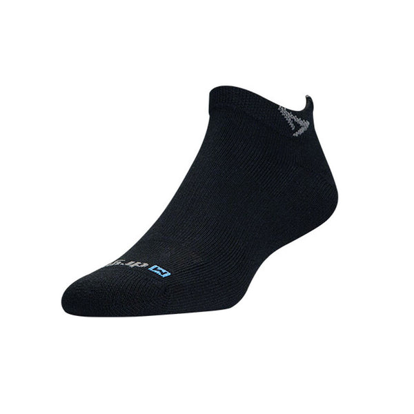 DRYMAX Run Unisex Mini Crew Black Running Socks (DMX-RUN-0832-P)