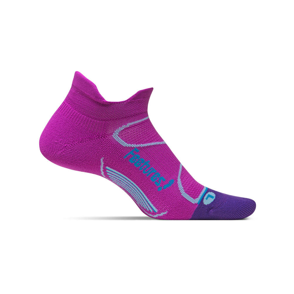 FEETURES Elite Light Cushion Womens Orchid/Blue Lagoon Running Socks (E50083)
