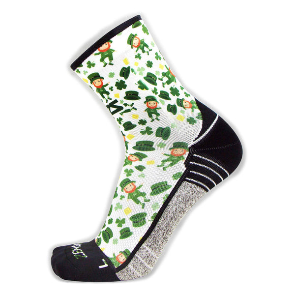 ZENSAH St. Patricks Day Mini Crew Lucky Leprechaun/White Socks (8640-434)