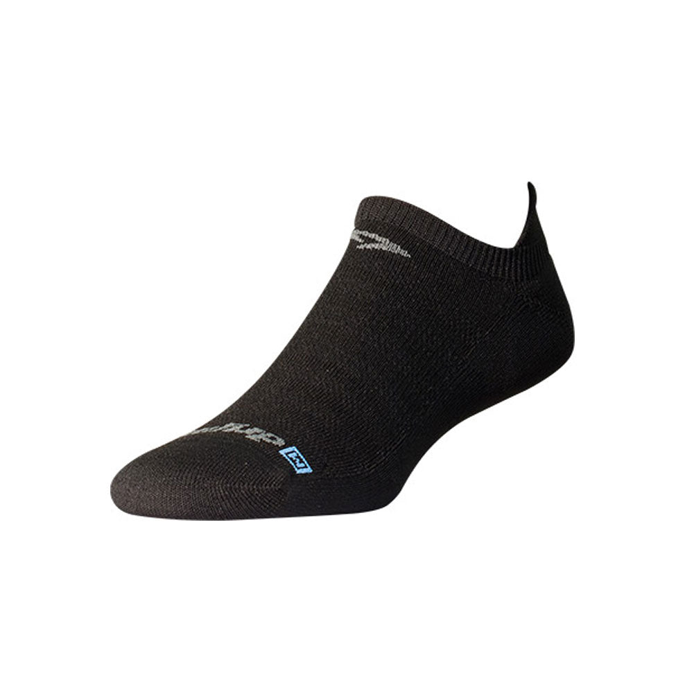 DRYMAX Lite-Mesh Unisex No Show Tab Black Running Socks (DMX-RUN-1022-P)