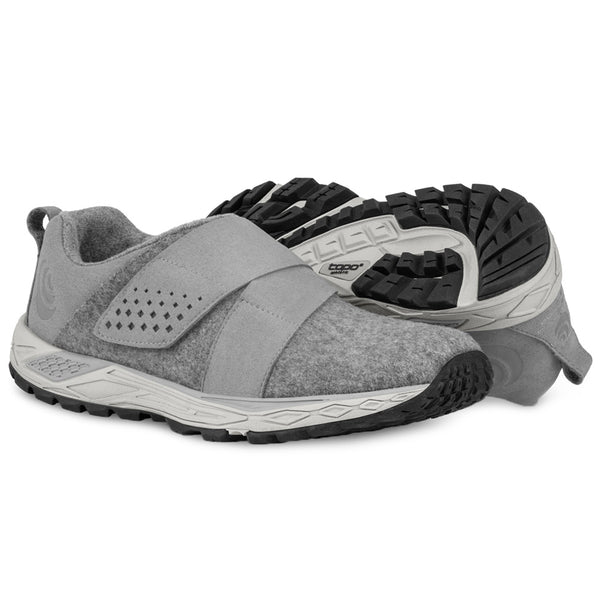 TOPO ATHLETIC Womens Rekovr Grey/Grey Running Shoe (W025-GRYGRY)