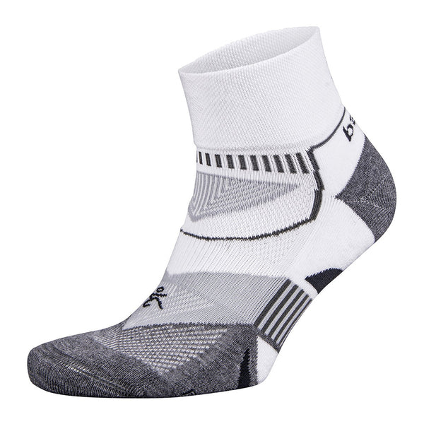 BALEGA Enduro V-Tech Unisex White & Grey Heather Running Socks (8971-2339)