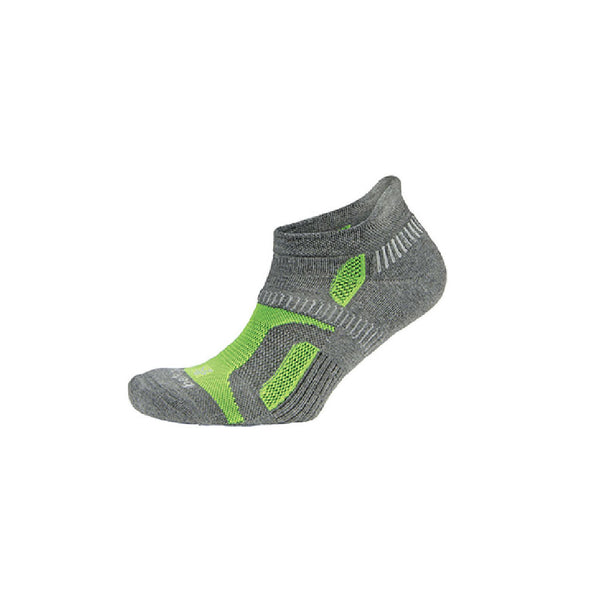 BALEGA Hidden Contour Charcoal/Neon Green Running Socks (8196-0339)