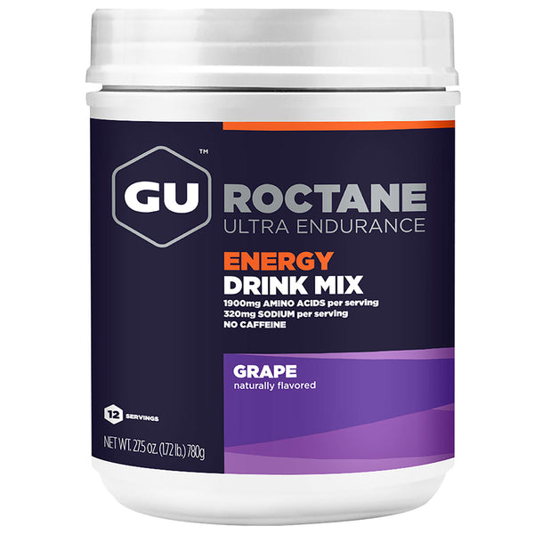 GU ENERGY Roctane Ultra Endurance Grape 12 Serving Canister Energy Drink Mix (123123)