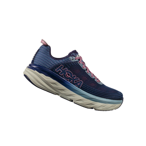 HOKA Womens Bondi 6 Marlin/Blue Ribbon Shoe (1019270-MBRB)