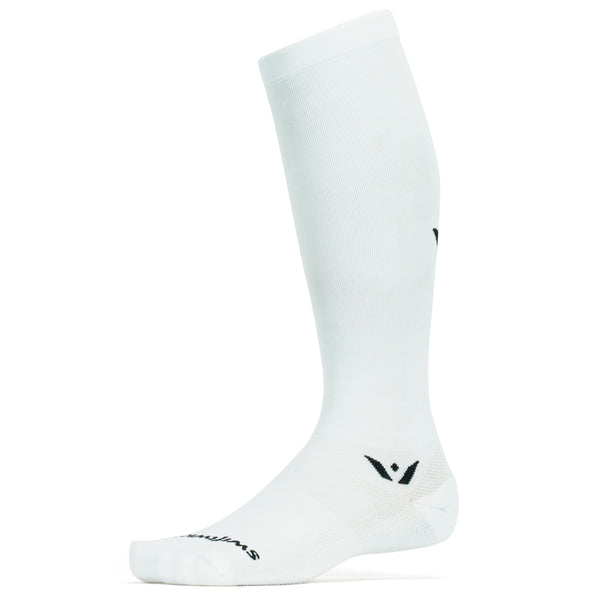 Swiftwick Aspire Twelve White Running Socks (TC020ZZ)