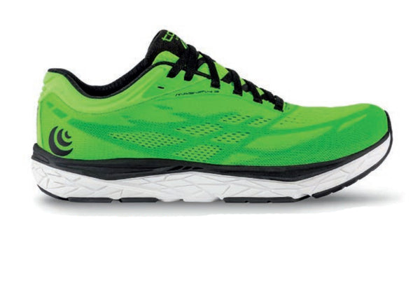 TOPO ATHLETIC Men s Magnifly 3 Bright Green/Black Running Shoes (M034-BGRBLK)