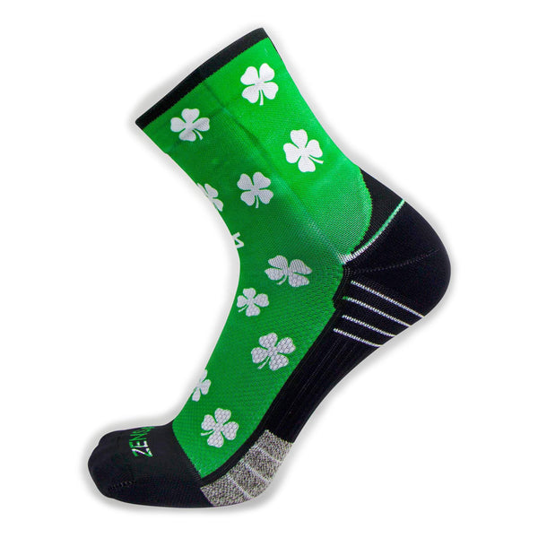 ZENSAH St. Patricks Day Mini Crew Shamrock/Green Socks (8649-104)