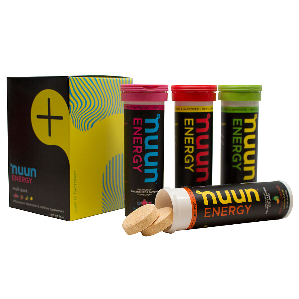 NUUN Energy Mixed Flavors Box of 4 Tubes Eletrolyte Tablets (1179904)