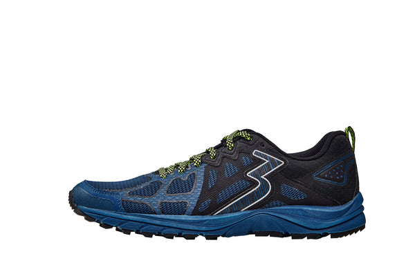 361 DEGREES Mens Denali 4E Wide Poseidon/Black Running Shoe (Y839-6709)