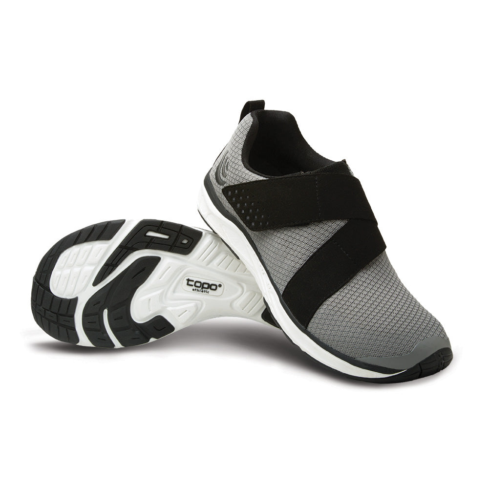 Topo Athletic COR Womens Grey & Black Gym Shoes (W023-GRYBLK)