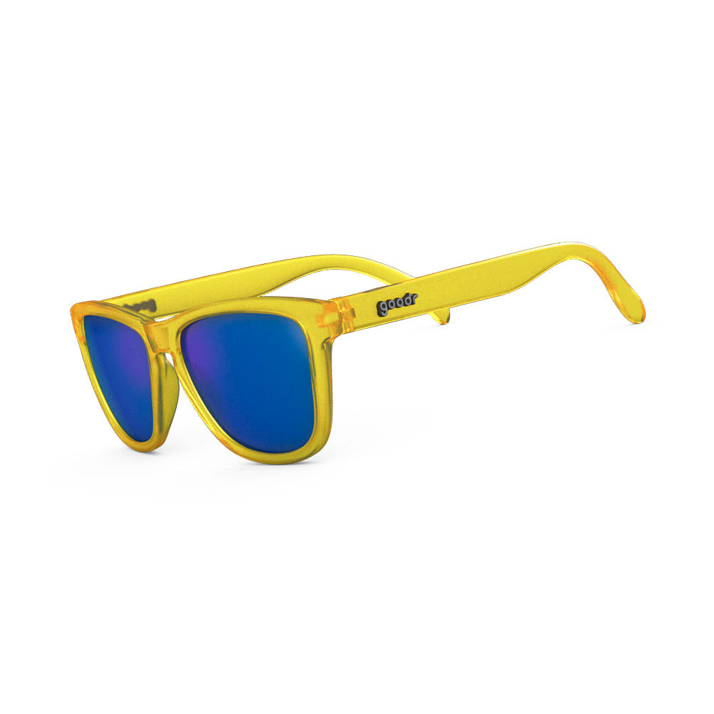 GOODR Swedish Meatball Hangover Yellow with Blue Lens Sunglasses (OG-YL-BL1)