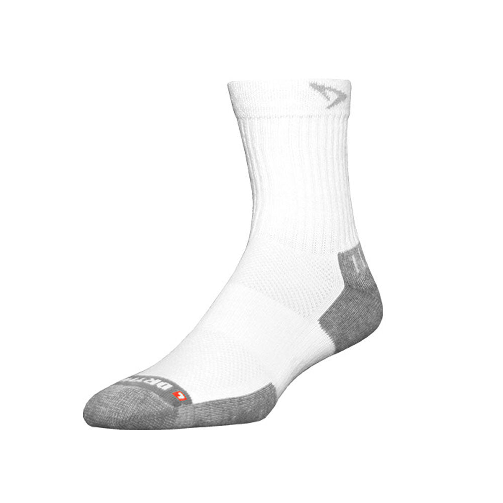 DRYMAX Tennis Unisex Crew White/Gray Running Socks (DMX-TEN-2023-P)