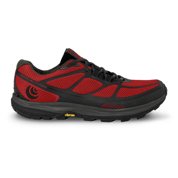 TOPO ATHLETIC Mens Terraventure 2 Red/Black Running Shoes (M029-REDBLK)