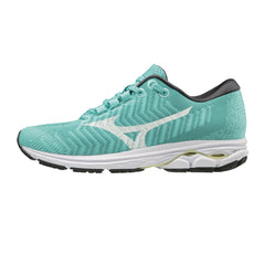 MIZUNO Womens Rider Waveknit 3 Blue Turquoise/White Running Shoes (411122-BT00)
