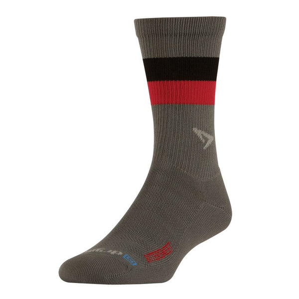 DRYMAX Bittersweet Running Lite-Mesh Crew Anthracite with Black/Red Socks (DMX-RUN-1109-P)