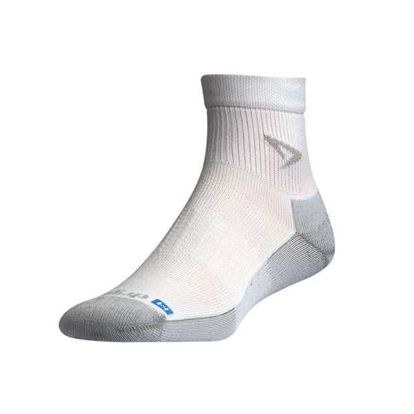 DRYMAX Run Unisex 1/4 Crew White/Gray Running Socks (DMX-RUN-0783-P)