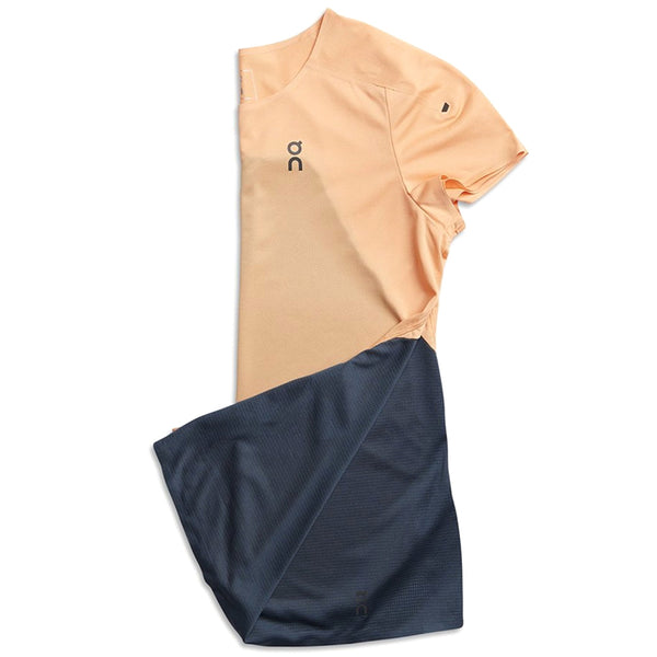 ON FOOTWEAR Womens Performance-T Coral/Navy Shirt (202.1239)
