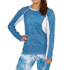 BOA Womens Protect Blue/White Long Sleeve Shirt (2043CTP-CUTBW)