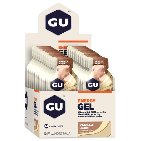 GU ENERGY Original Sports Nutrition Vanilla Bean 24-Pack Energy Gel (123045)