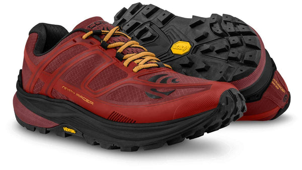 TOPO ATHLETIC Mens MTN Racer Red/Orange Shoe (M033-REDORG)