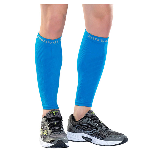 ZENSAH Compression Blue Leg Sleeves (6055-108)
