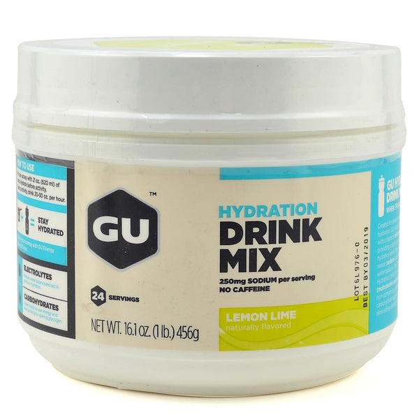 GU ENERGY Hydration Lemon Lime 24 Serving Canister Drink Mix (123100)