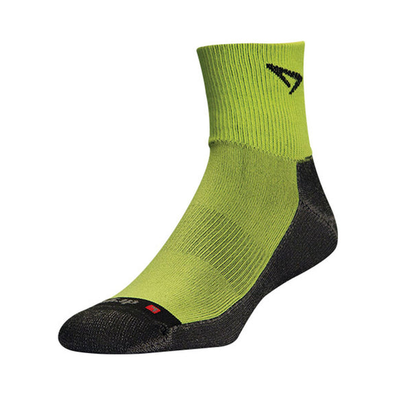 DRYMAX Lite Trail Run Unisex 1/4 Crew Turn Down Lime Green/Anthracite Running Socks (DMX-RUN-1300-P)