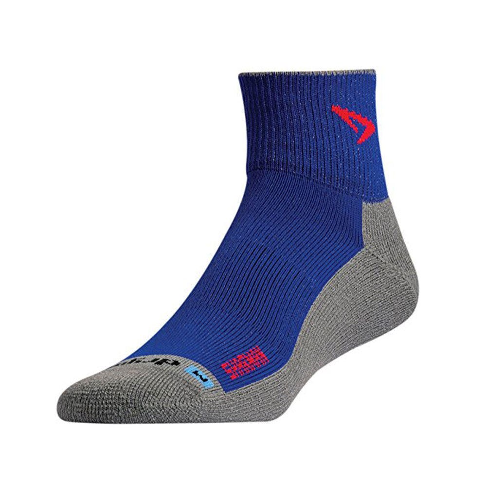 DRYMAX Maximum Protection Trail Run Unisex 1/4 Crew Turn Down Royal/Red/Anthracite Running Socks (DMX-RUN-1216-P)