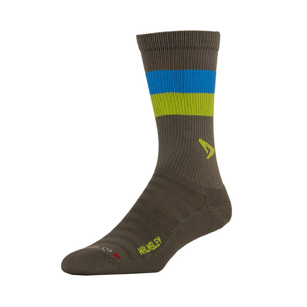 DRYMAX Walmsley Hyper Thin Running Crew Anthracite/Sublime/Big Sky Blue Socks (DMX-RUN-1260-P)